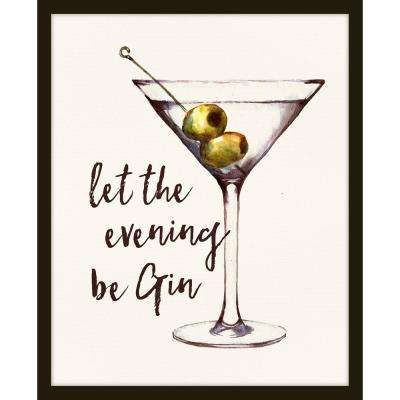 """22 in. x 26 in. """"Let the Evening Be Gin"""" Framed Giclee Print Wall Art"""