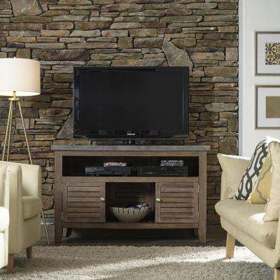 Concrete Chic Weathered Brown TV Credenza Stand