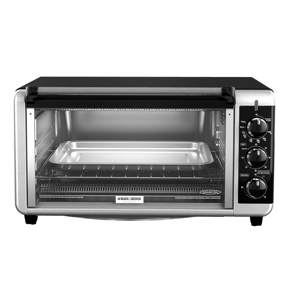 BLACK+DECKER 6-Slice Stainless Steel Toaster Oven