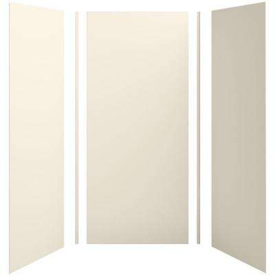 Choreograph 42in. x 36 in. x 96 in. 5-Piece Shower Wall Surround in Almond for 96 in. Showers