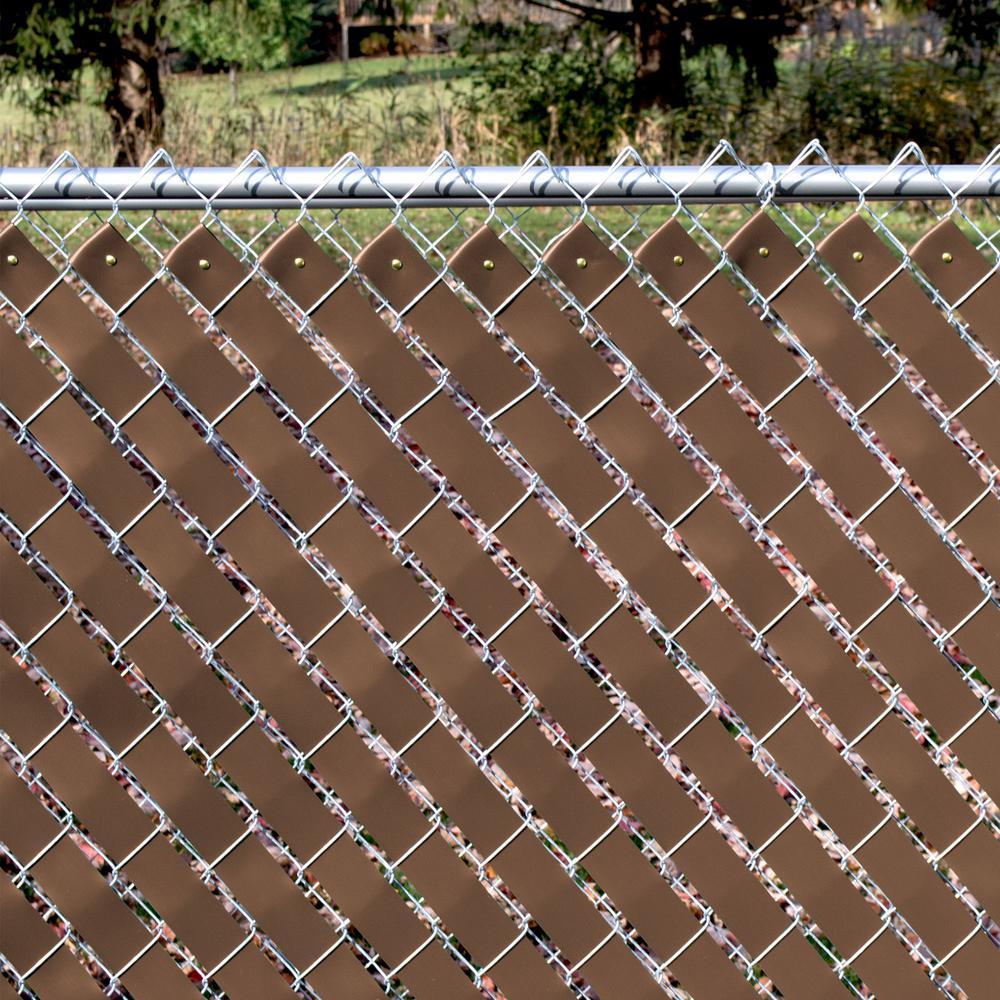 Beige ft W  Woven Economy Vinyl Chain Link Fence Slats Weave H x 250 ft