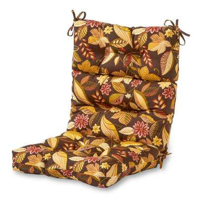 Timberland Floral Outdoor High Back Dining Chair Cushion