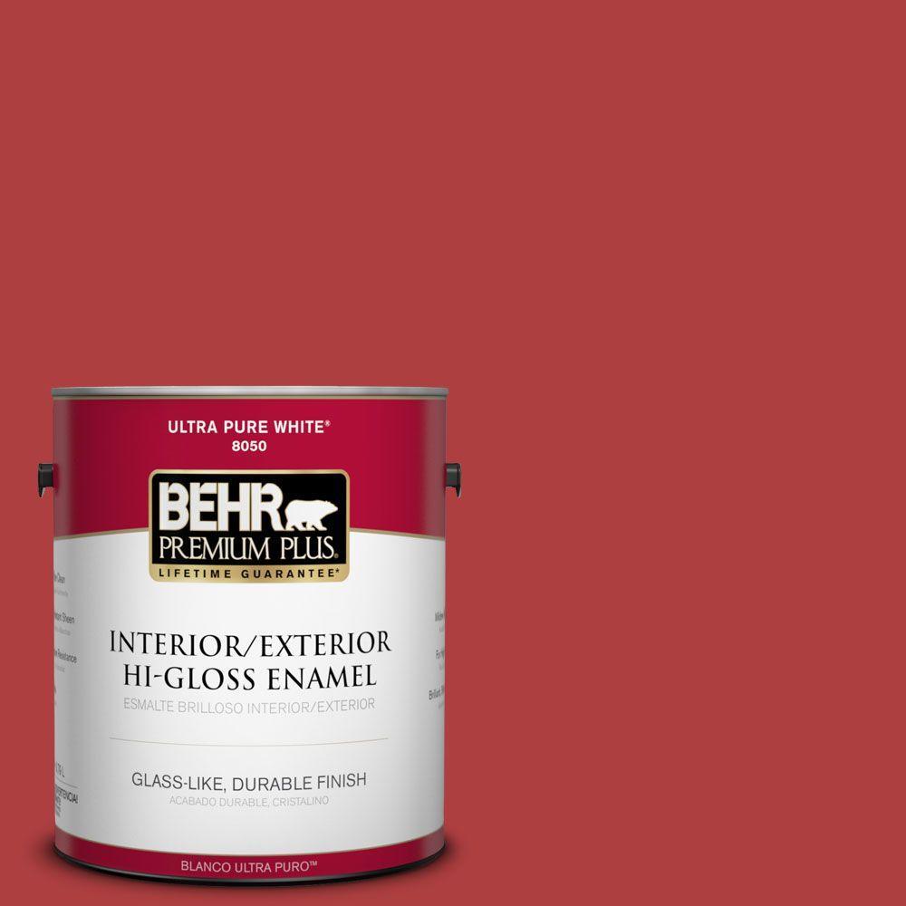 BEHR Premium Plus 1-gal. #160B-7 Daredevil Hi-Gloss Enamel Interior/Exterior Paint
