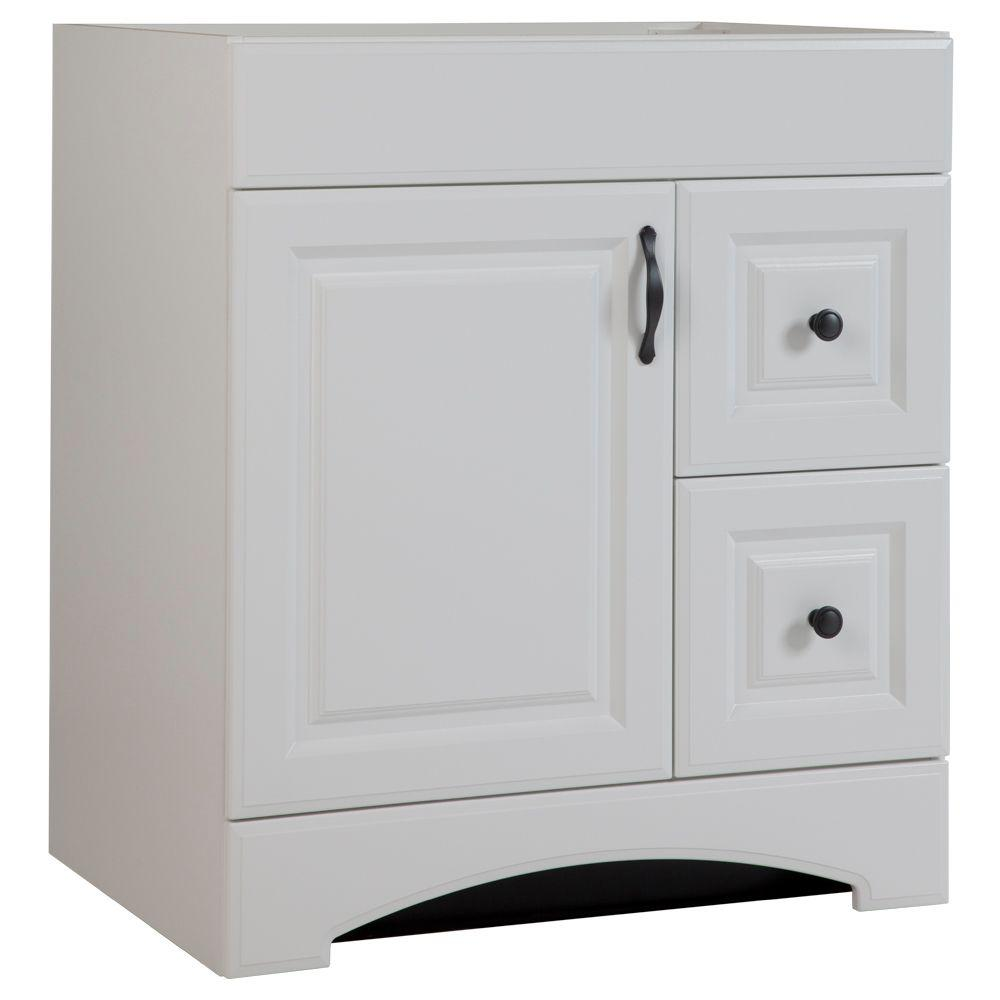 Glacier Bay Regency 30 In. W Bath Vanity Cabinet Only In White-RESD30COM-WH  - The Home Depot