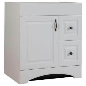 W Bath Vanity Cabinet Only In White