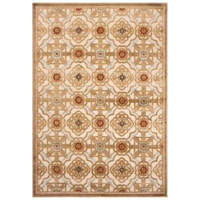 Martha Stewart Taupe/Cream 4 ft. X 5 ft. 7 in. Area Rug