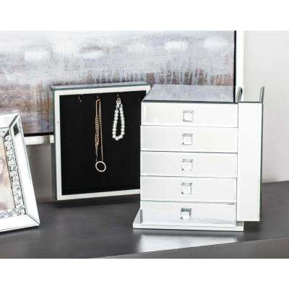 10 in. x 11 in. Modern Mirror Jewelry Box