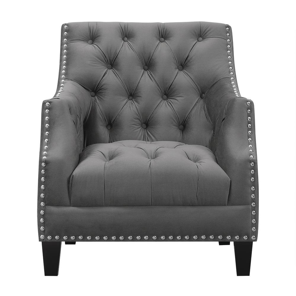 Tuffled Accent Chair Black
