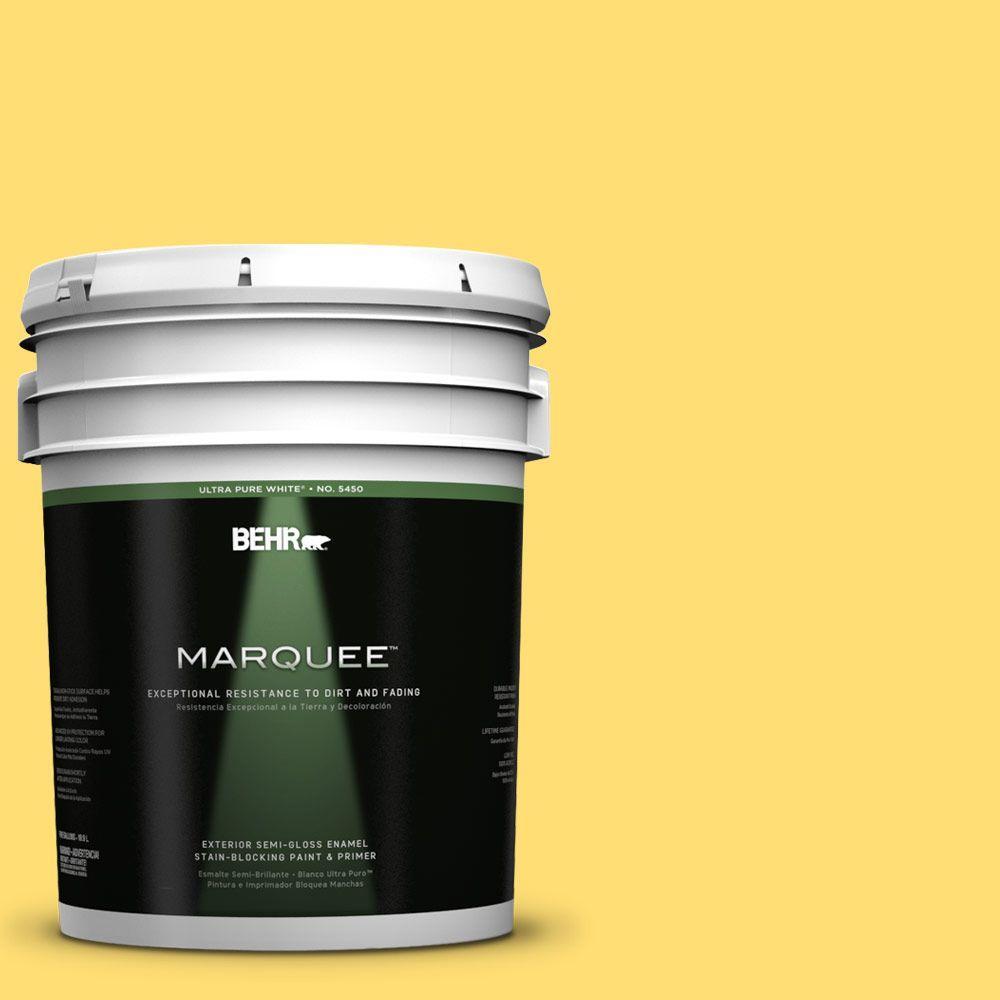 BEHR MARQUEE 5-gal. #370B-5 Sun Shower Semi-Gloss Enamel Exterior Paint