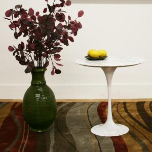 Immer White End Table