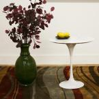 Baxton Studio Immer White End Table