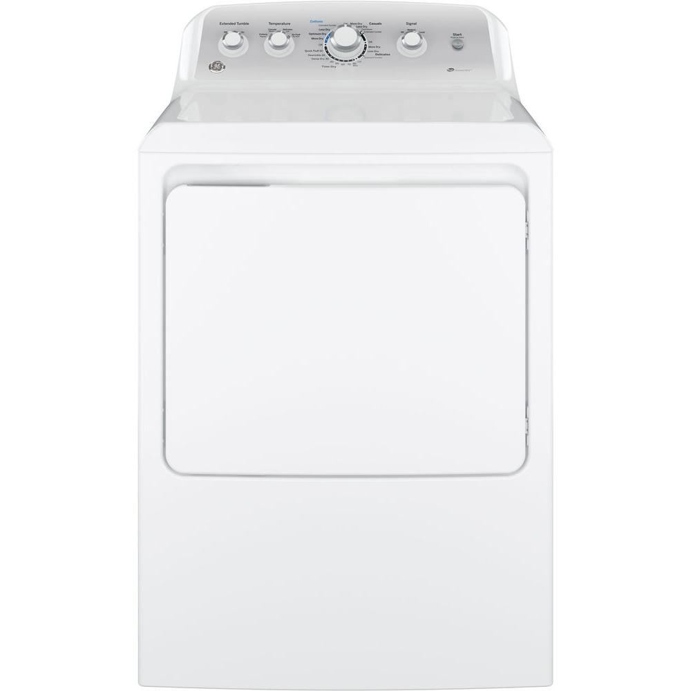 GE 7.2 cu. ft. 120-Volt White Gas Vented Dryer