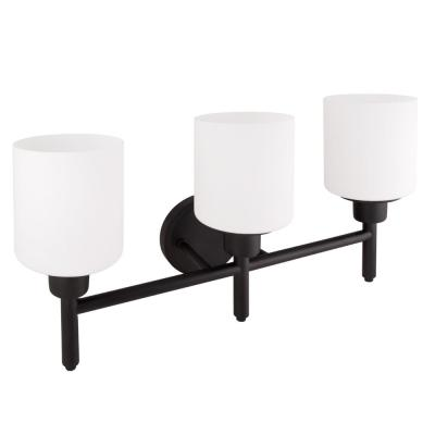 Aubrey 3-Light Matte Black Vanity Light