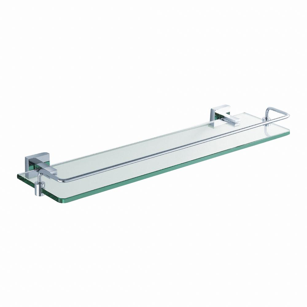 Kraus Aura Bathroom Shelf With Railing In Chrome