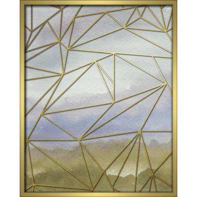 "16 in. x 20 in. ""Fractal Watercolor-Blue"" Shadowbox Wall Art"