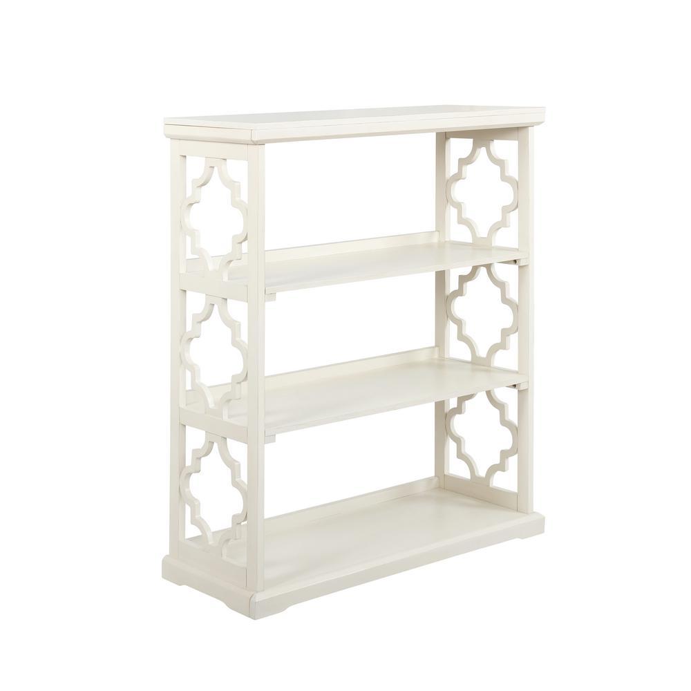 Carson White Medium Bookcase