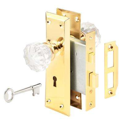 Victorian Keyed Mortise Entry Lock Set