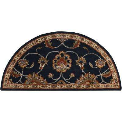 Gilzan Slate 2 ft. x 4 ft. Hearth Indoor Area Rug