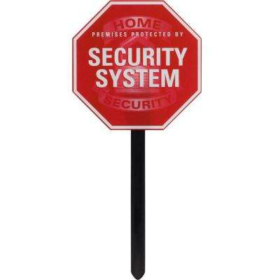 SmartHome Security Sign Yard Stake and Window Decals