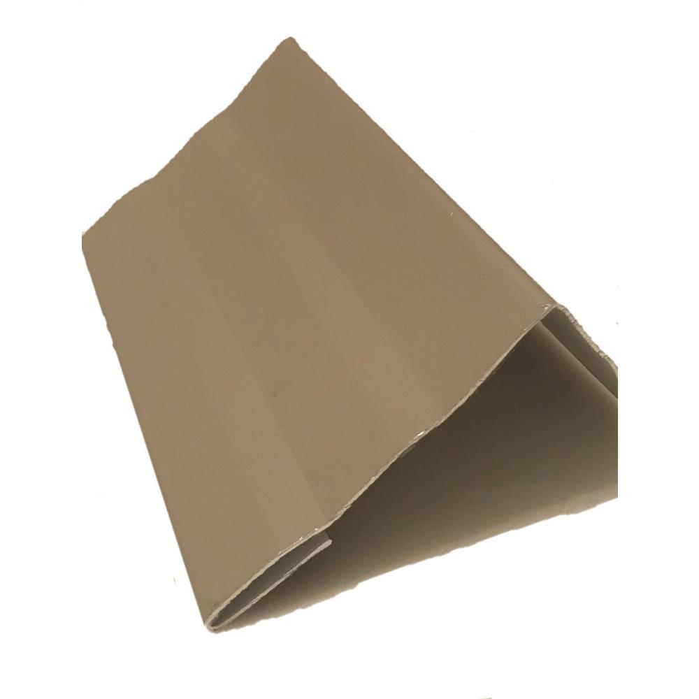 2.56 in x 2.25 in x 85 in. White Aluminum Complete Brick-Jamb Trim Kit