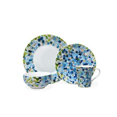 Solena Blue 16-Piece Dinnerware Set