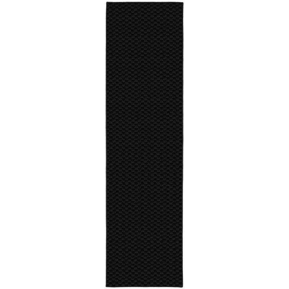 Garland Rug Medallion 3 Ft X 12 Ft Area Rug Runner Black
