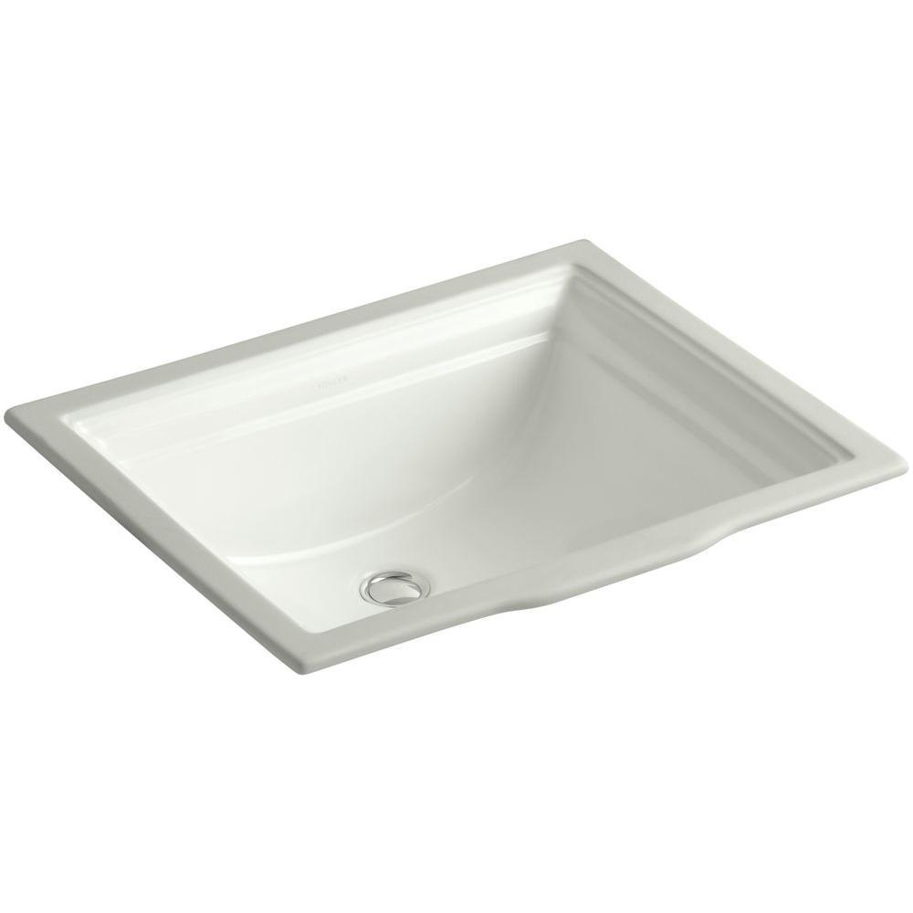 KOHLER Memoirs Vitreous China Undermount Bathroom Sink in ...