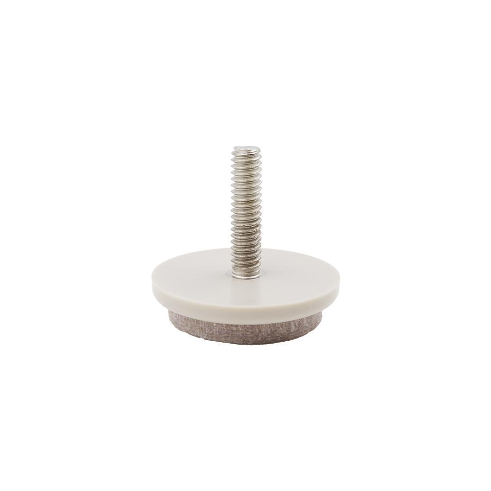 Everbilt 1-1/2 in. Beige Threaded Furniture Felt Glide (4-Pack)