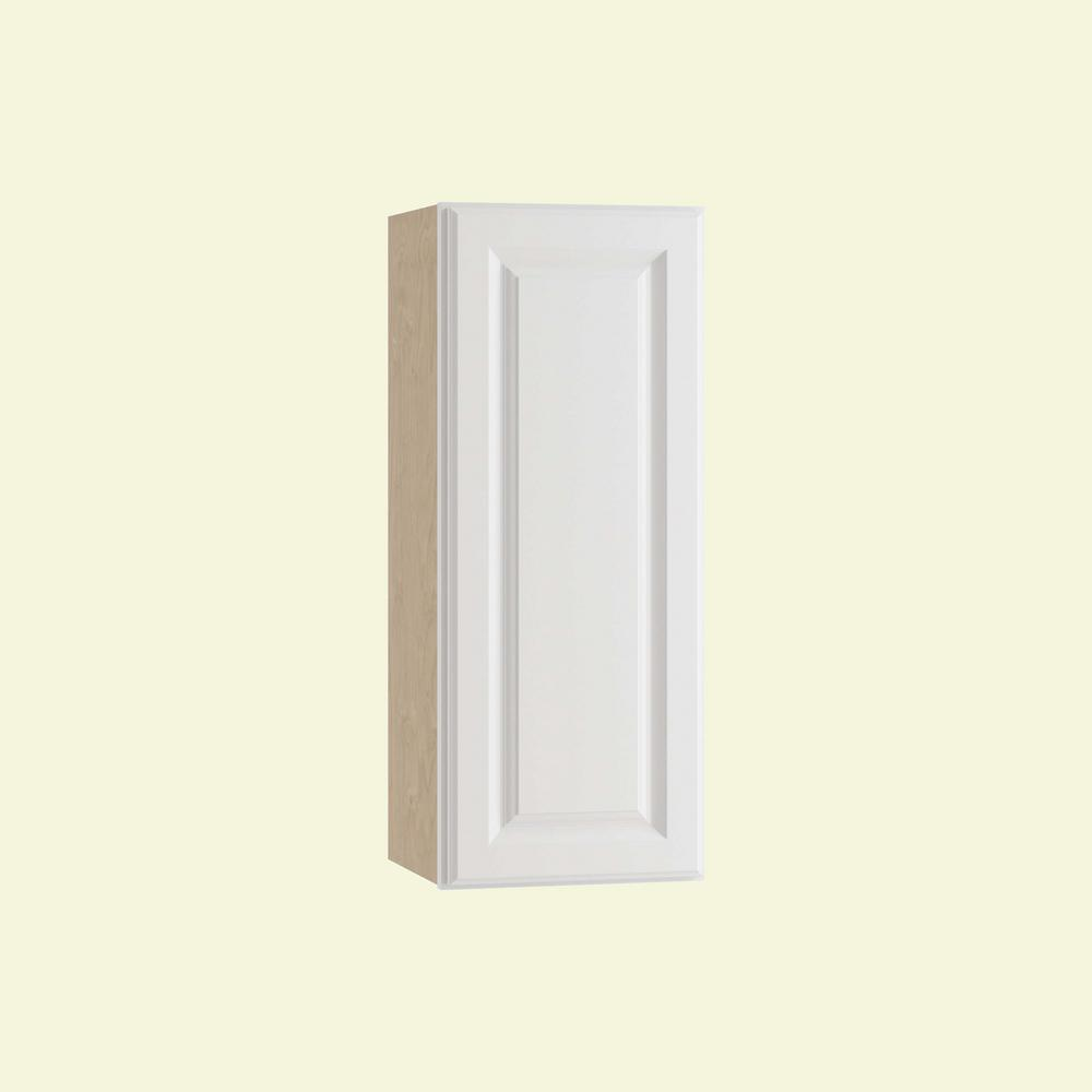 Home Decorators Collection Hallmark Assembled 12x36x12 in. Wall Kitchen Cabinet with 1 Door Right Hand in Arctic White