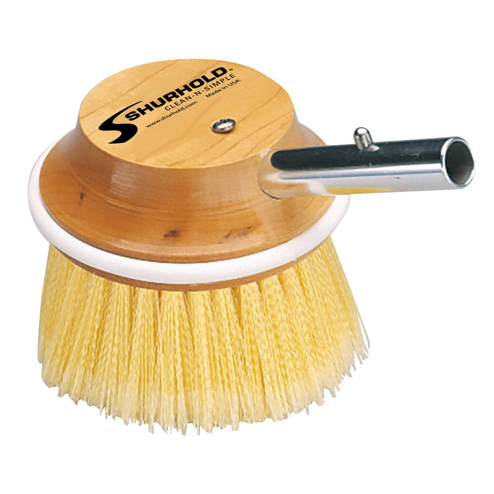5 in. Round Brush Soft Yellow Polystyrene