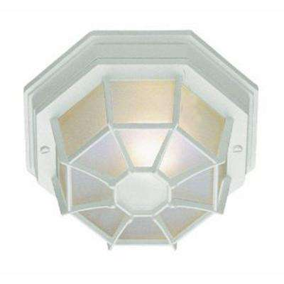 Stewart 1-Light Outdoor White CFL Flush Mount