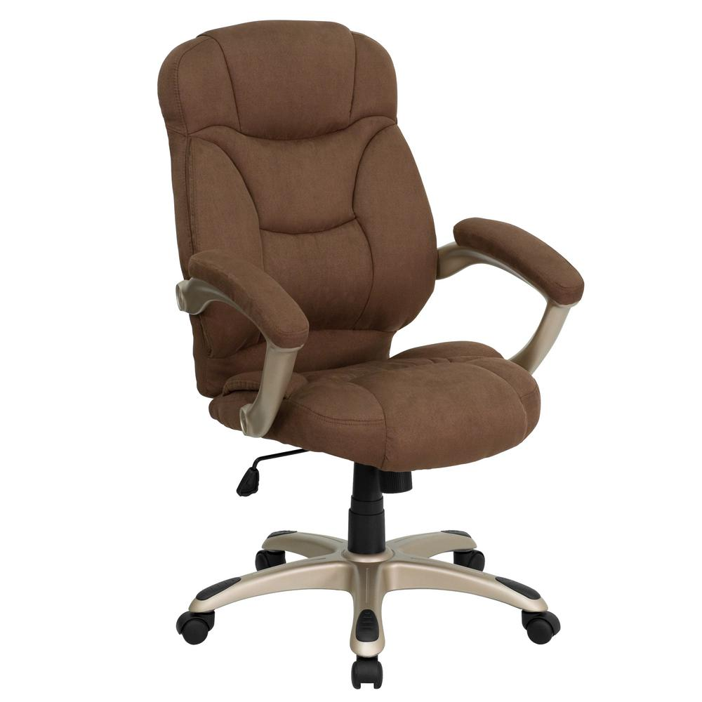 Flash Furniture High Back Brown Microfiber Contemporary Executive Swivel Office Chair
