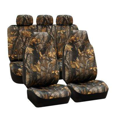Fabric 47 in. x 23 in. x 1 in. Hunting Camo Full Set Seat Covers