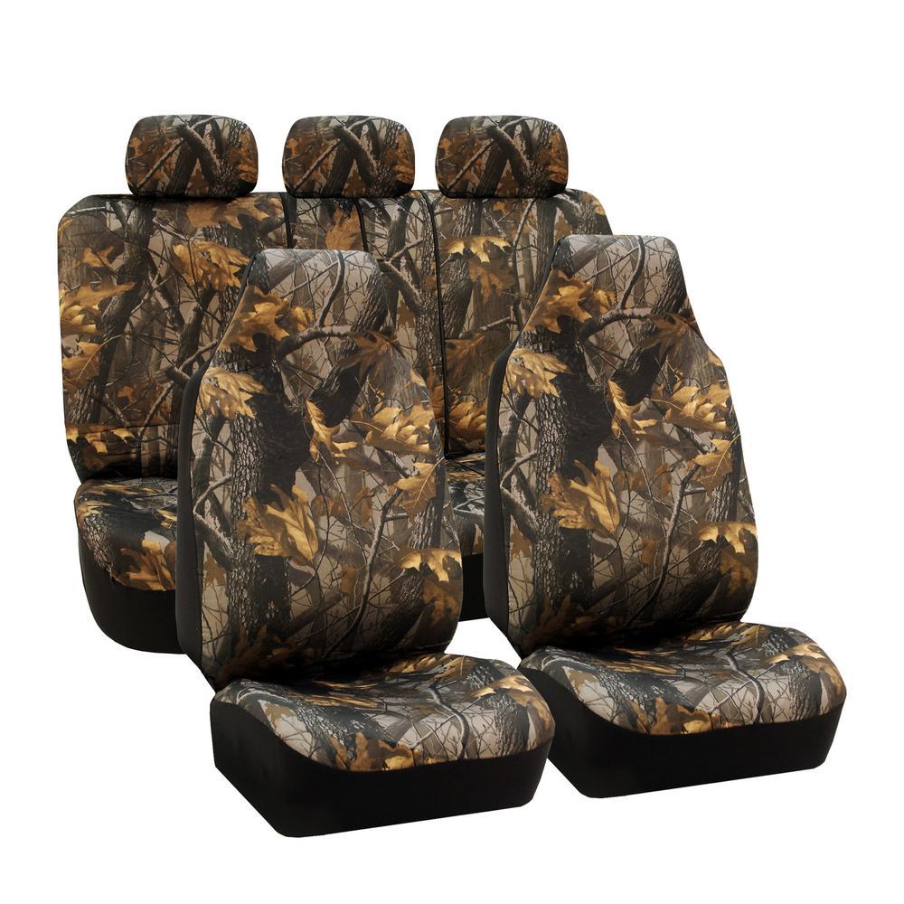 Fabric 47 in. x 23 in. x 1 in. Hunting Camo Full Set Seat...
