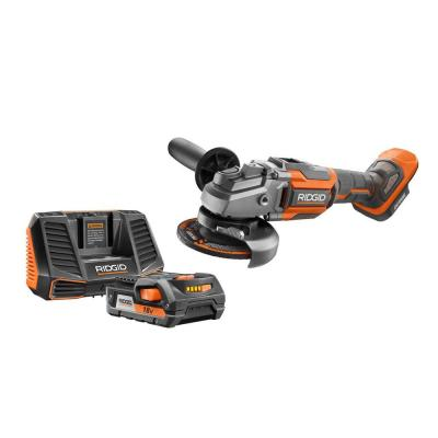 18-Volt OCTANE 4-1/2 in. Angle Grinder with 18-Volt Lithium-Ion 2.0 Ah Battery and Charger Kit