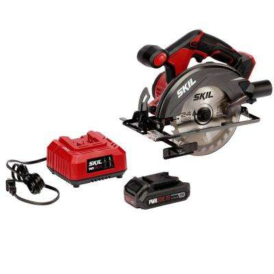 PWRCORE 20-Volt Lithium Cordless 6-1/2 in. Circular Saw Kit
