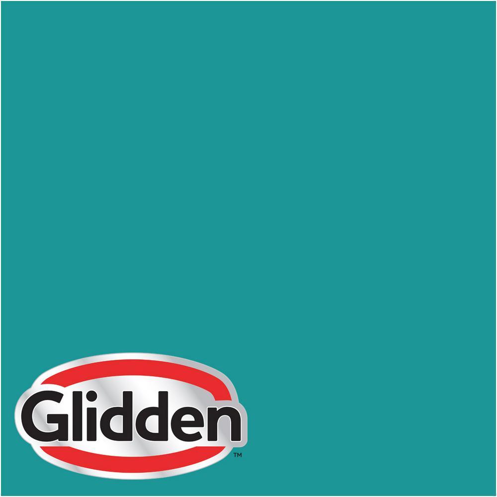 Glidden Premium 1 Gal Hdgb21 Teal Lake Satin Latex Exterior Paint Hdgb21px 01sa The Home Depot