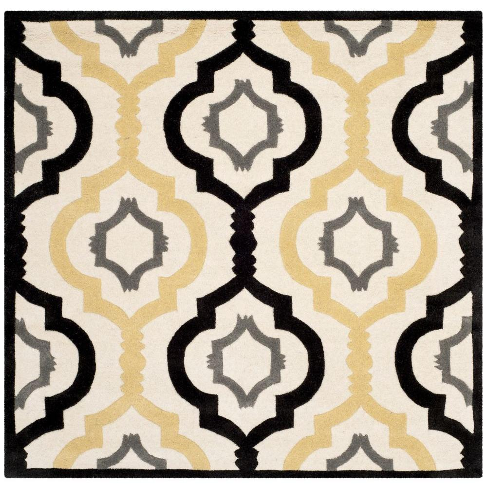 Chatham Ivory/Multi 5 ft. x 5 ft. Square Area Rug