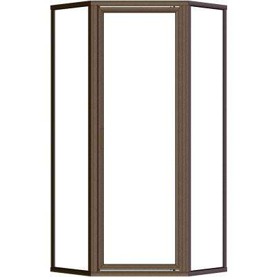 Deluxe 22-5/8 in. x 68-5/8 in. Framed Neo-Angle Shower Door in Oil Rubbed Bronze