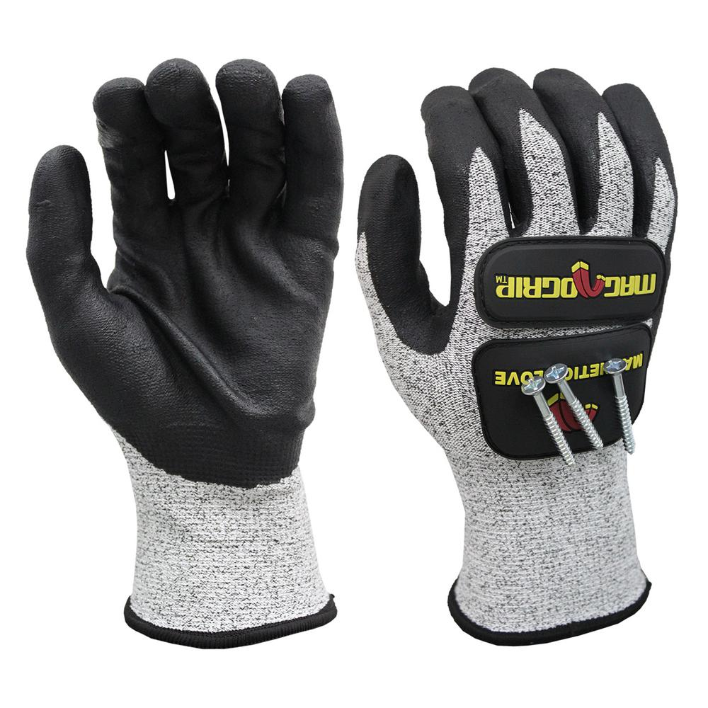 Large Impact and Cut Resistant Magnetic Gloves