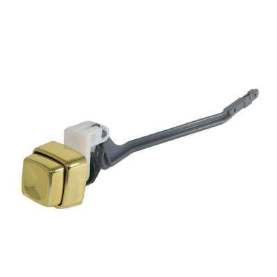 Push Button Tank Lever Assembly for 1-Piece Toilets in Polished Brass