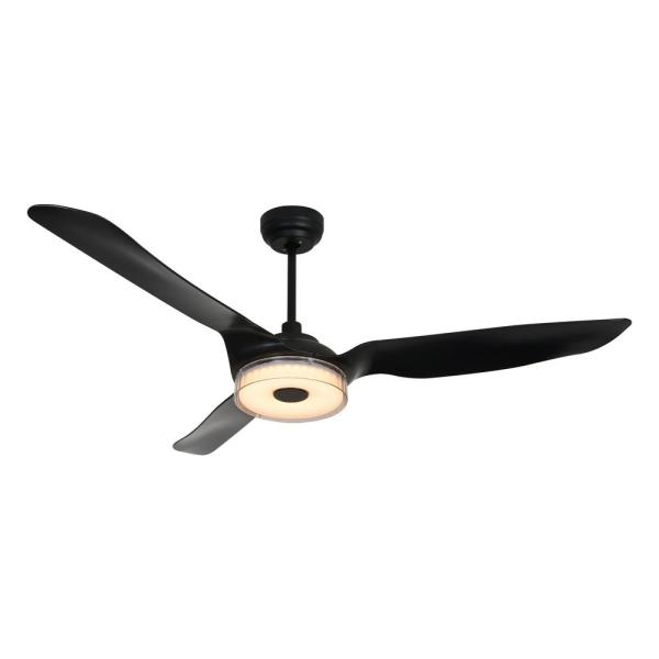 Icebreaker 60 in. Integrated LED Indoor Black Smart Ceiling Fan with Light Kit works with Google and Alexa