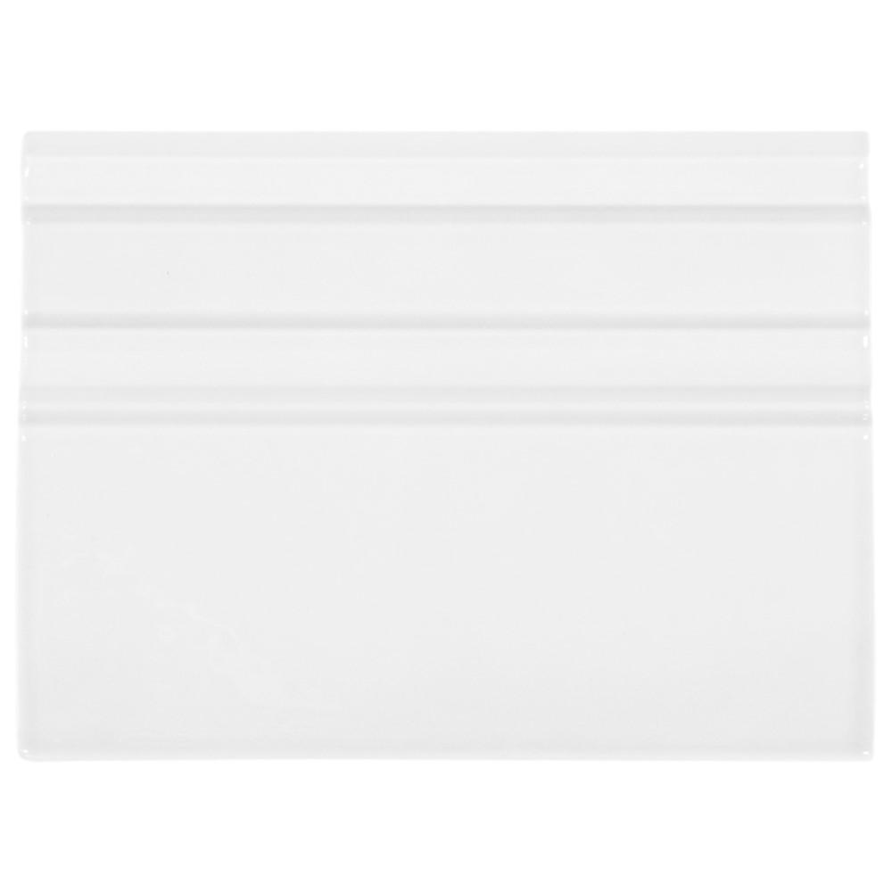 Jeffrey Court Fresh White 4.5 in. x 6 in. Ceramic Base Trim (0.1875 sq. ft. / each)