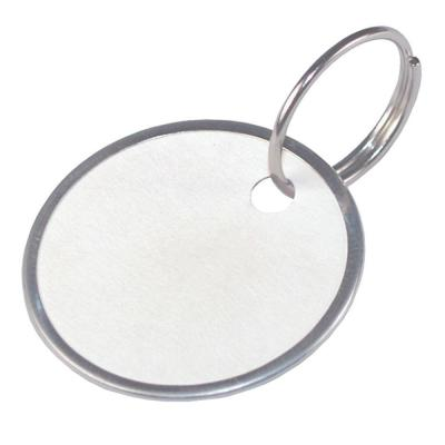 1-1/4 in. Paper Key Tags with Wire Rings (25-Pack)