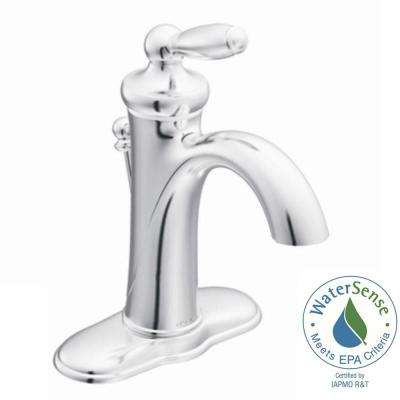Brantford Single Hole Single Handle Low Arc Bathroom Faucet in Chrome