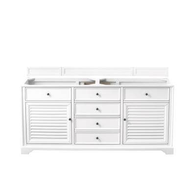 Savannah 72 in. Single Bath Vanity Cabinet Only in Bright White