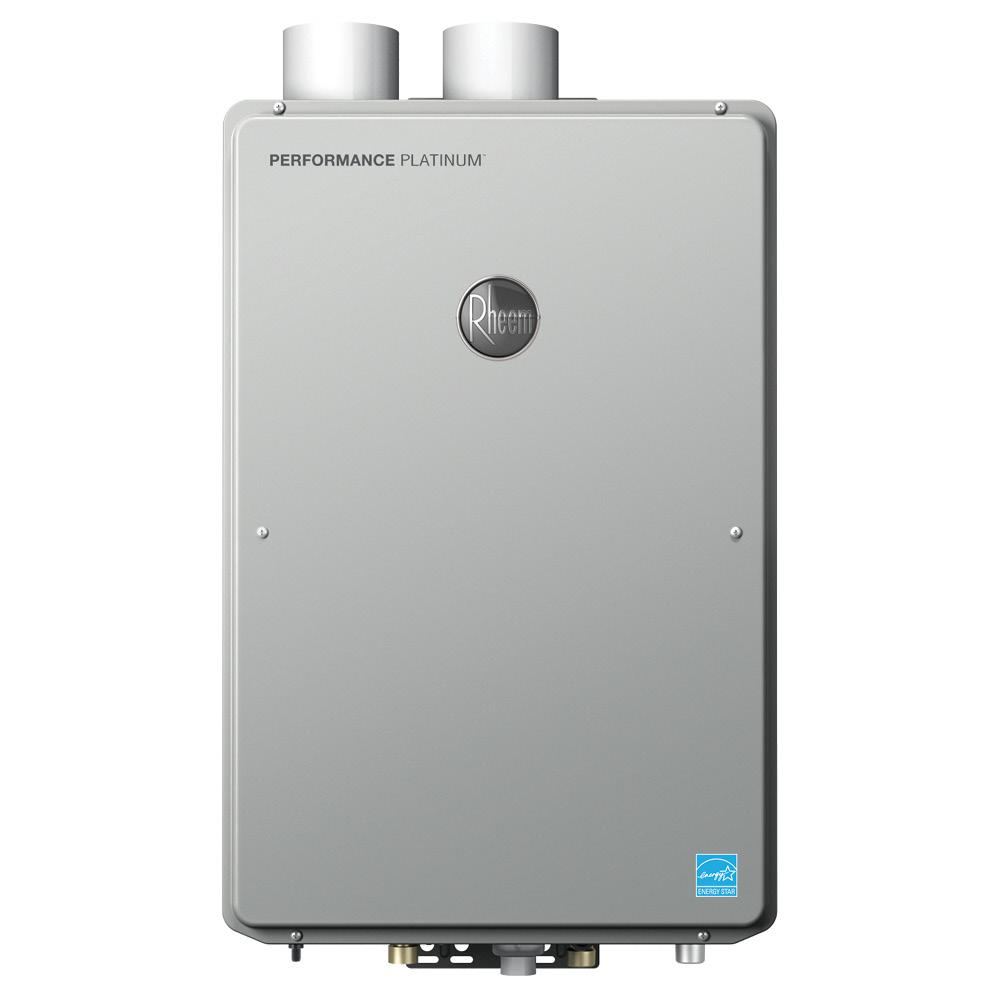 Rheem 9 5 gpm liquid propane gas high efficiency indoor for 5 bathroom tankless water heater
