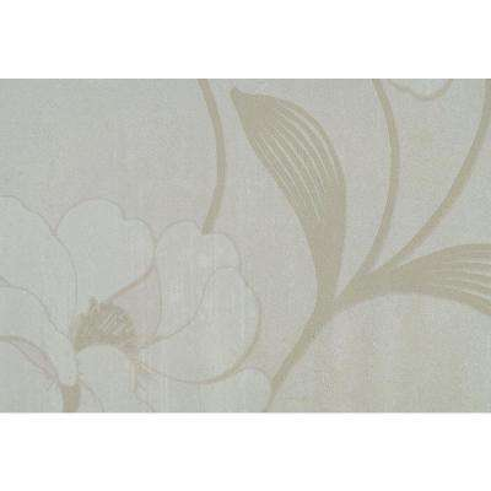 Pale Beige Tropical Floral Print Wallpaper