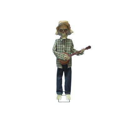 49 in. Halloween Animated Banjo Skeleton