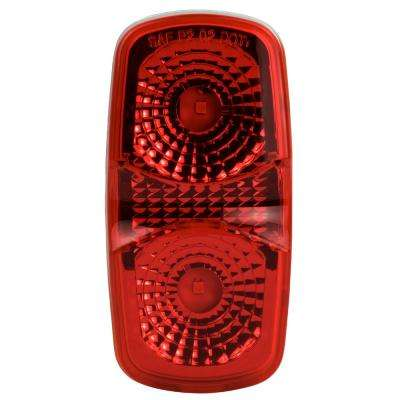 Clearance 4 in. LED Marker Oblong Light, Red